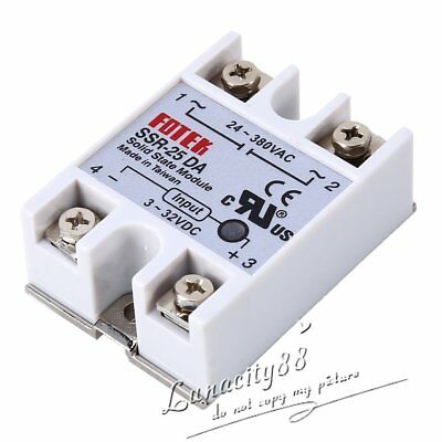 24V-380V 25A 250V SSR-25 DA Solid State Relay for PID Temperature Controller