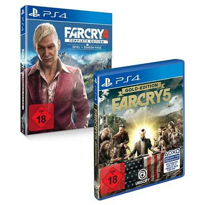Far Cry 4 Complete + Far Cry 5 Gold Sony PS4 Spiel Doppelpack NEU&OVP