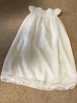 Vintage The White House Christening Gown Baby/reborn. Beatiful Irish Lace Detail
