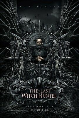 Last Witch Hunter  - original DS movie poster  D/S 27x40 Advance B