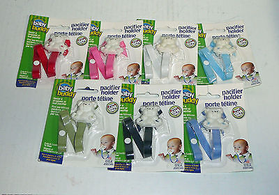 NEW Baby Buddy Pacifier Holder Clip Binky Strap Toy Cup  BPA Free
