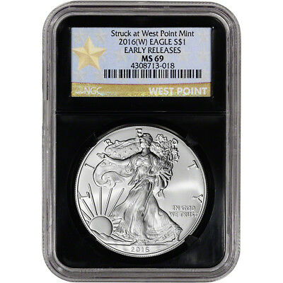 2016-(W) American Silver Eagle - NGC MS69 - Early Releases West Point Star Retro