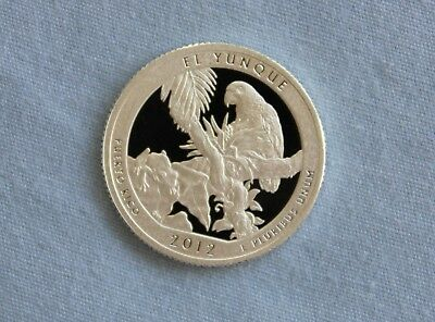 2012-S El Yunque Silver Proof State Parks ATB Quarter Ultra Deep Cameo