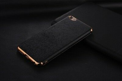 iPhone X 10 Luxury Leather Ultra Thin TPU Soft Shockproof Case with gold rim