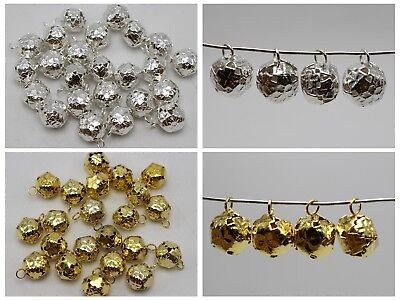 40pcs Silver Golden Ball Jingle Bells Decoration Wedding Party Craft 12mm