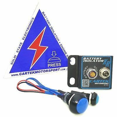 Cartek Motorsport ECU XR Solid State Battery Isolator Kit With Blue Switches