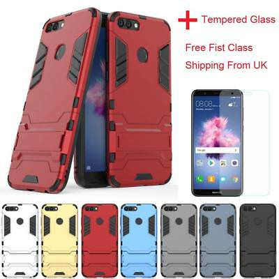 Hybrid Shockproof Silicone armor cover Slim Stand Hard case For Huawei P Smart