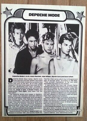 DEPECHE MODE 'early' magazine PHOTO/Article/clipping 11x8 inches