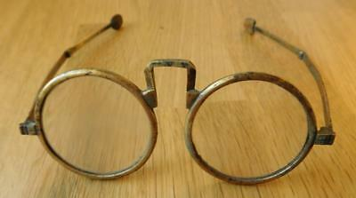 Very Rare Antique Oriental Chinese Brass Framed Spectacles Glasses