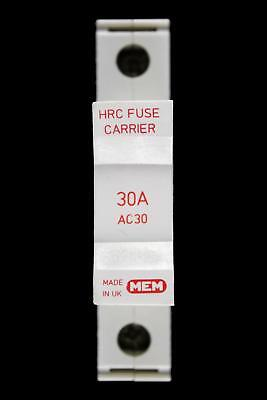 Mem 30 Amp Hrc Fuse Carrier Holder Ac30 Red