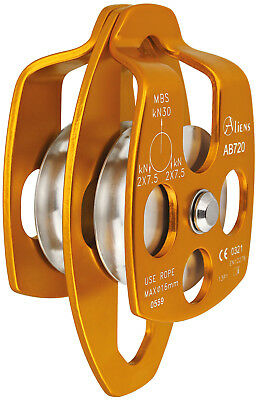 Aliens Big Double Pulley Seilrolle gold