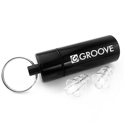 Groove Musician's High Fidelity Hearing Protection Ear Plugs &  Aluminium Case