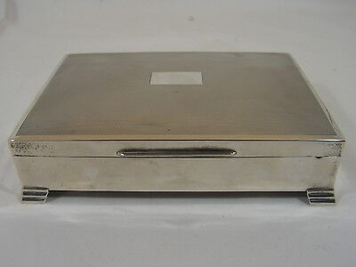 Large Classic Art Deco Inspired Solid Silver Cigarette Box
