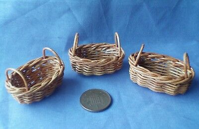 3 Dolls House Baskets
