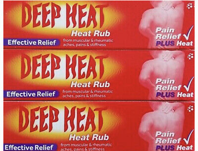 Deep Heat Pain Relief muscle Rub 100g x 6 Packs   exp  10/ 2020