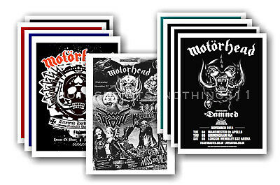MOTORHEAD  - 10 promotional posters - collectable postcard set # 2
