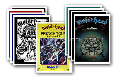 MOTORHEAD  - 10 promotional posters - collectable postcard set # 5