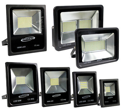 Faro slim led esterno ip65 10 20 30 50 100 150 200 watt 6500k 3000k 4000k top