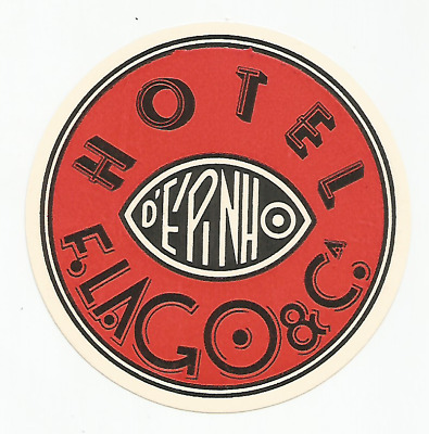 HOTEL ESPINHO luggage DECO label (PORTUGAL)