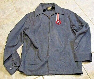 VINTAGE,  Texaco ATTENDANT Work Jacket, DARK GREEN, 40 S, SIZE. MADE IN U.S.A.