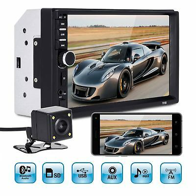 """7"""" Car Stereo Radio 2 DIN MP5 Player Touch Screen Bluetooth USB/FM + 4LED Camera"""