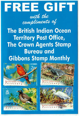 British Indian Ocean Territory - BIRDS - Gibbons # 296-299 Scott # 274-277 MNH