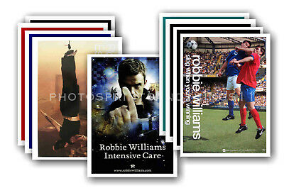 ROBBIE WILLIAMS - 10 promotional posters - collectable postcard set # 2