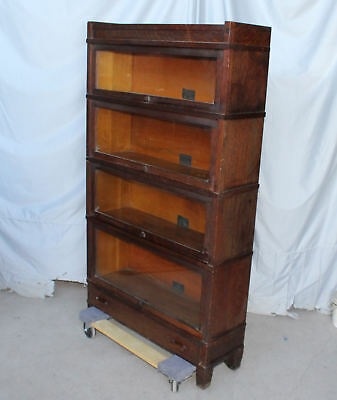 Antique Mission Oak Sectional Four High Bookcase – Globe Wernicke Company