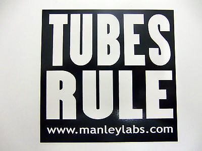 Guitar Players Tubes Rule Decal Case Rack Bumper Sticker White On Black New Cool