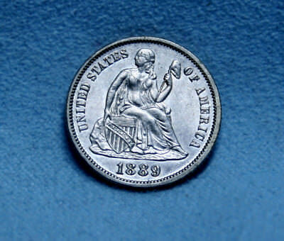 1889 Uncirculated Seated Liberty Dime - Free Shipping