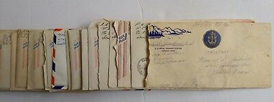 WWII-23 Letters -USS Haggard DD-555-Fleet Citation-Navy Battle Ship-War-1943-45
