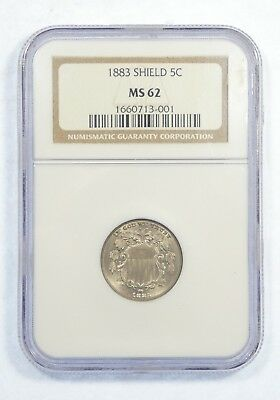 1883 Shield Nickel CERTIFIED NGC MS 62  5-Cents