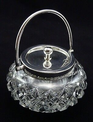 Vintage William Hutton Silver Plated Glass Preserve Jam Breakfast Dining Dish