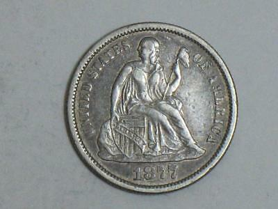 1877-S Seated Liberty Dime