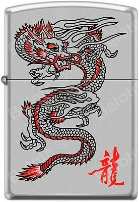 Zippo Red Dragon Chrome WindProof Lighter Good Luck Charm RARE L@@K