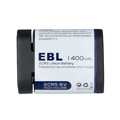 EBL 1400mAh 2CR5 6-Volt Lithium Photo Battery Replacement with PTC Protection