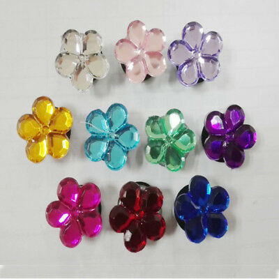 10pcs/lot Flower Crystal PVC Shoe Charms for Croc & Jibbitz Bands Bracelets Gift