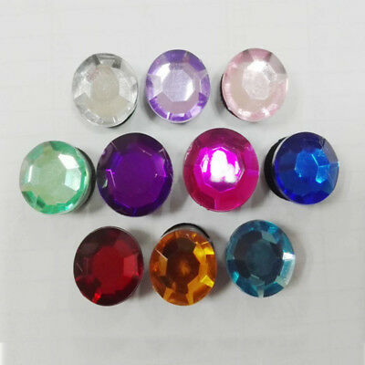 10pcs/lot Fashion Crystal PVC Shoe Charms for Croc & Jibbitz Bands Bracelet Gift