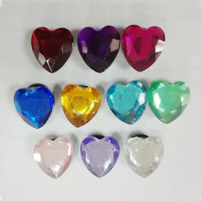 10pcs/lot Heart Crystal PVC Shoe Charms for Croc & Jibbitz Bands Bracelet Gift