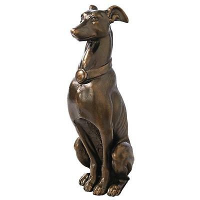 Aristocratic Graceful Whippet Statue Sentinel Greyhound Cast Iron Sculpture