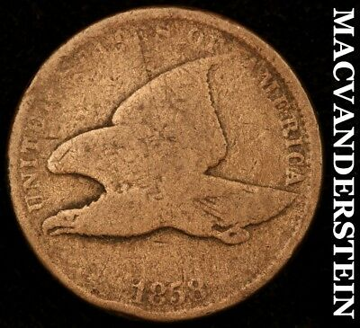 1858 Flying Eagle Cent - Small Letters - Semi-Key!!  Better Date!!  #z1226