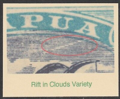 126 PAPUA 1932 LAKATOI 1s3d SPECIMEN with RIFT IN CLOUDS only 7 can exist