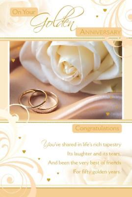 congratulations golden 50th wedding anniversary card free 1st