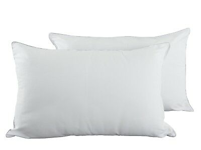 Pack of 2 Pillows, Luxury Filled Hollow Fibre inserts Bed Bedroom Pillow Pair