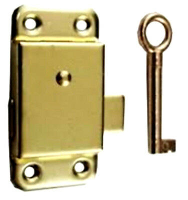 Brass Wardrobe Lock +- Key / Cupboard Lock Key Lock Various Sizes 50mm 60mm