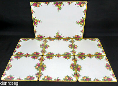 OLD COUNTRY ROSES 1 VERY LARGE SERVING, 39X29cm +6 TABLE MATS, VGC, ROYAL ALBERT