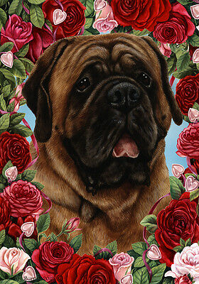 Garden Indoor/Outdoor Roses Flag - Red Mastiff 192761