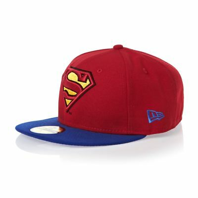 A09 NEW ERA OFFICIAL 59FIFTY Fitted Baseball Cap SUPERMAN Reverse Hero Var Sizes