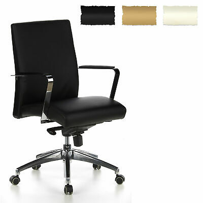 Executive Office Chair Recliner Swivel Computer Furniture BAROLO 10 Real Leather