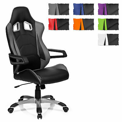 hjh OFFICE Gaming Chair RACER PRO I PU Leather High Backrest Sport Seat Armrests